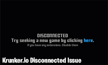 Photo of Krunker.io Disconnected Problem